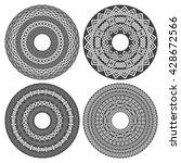 circular mandala set. patterned ...   Shutterstock .eps vector #428672566