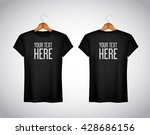 men black t shirt. realistic... | Shutterstock .eps vector #428686156