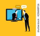 handshake business through the... | Shutterstock .eps vector #428688916