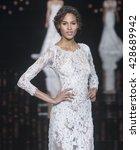 barcelona   april 29  a model... | Shutterstock . vector #428689942