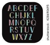 geometric alphabet. vector set. ... | Shutterstock .eps vector #428690695
