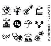 world ozone day  ecology ... | Shutterstock .eps vector #428692456