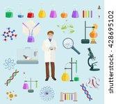 icon vector set science lab... | Shutterstock .eps vector #428695102