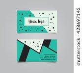 business card design layout... | Shutterstock .eps vector #428697142