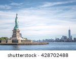 the statue of liberty and... | Shutterstock . vector #428702488