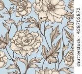 floral seamless pattern. flower ... | Shutterstock .eps vector #428702872
