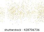 spotty wallpaper. gold dust... | Shutterstock . vector #428706736