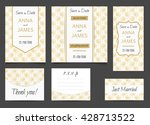 beautiful wedding set of... | Shutterstock .eps vector #428713522