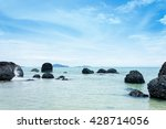 view island and tropical sea... | Shutterstock . vector #428714056