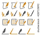 writing icons set | Shutterstock .eps vector #428715892