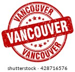 Stock vector vancouver red grunge round vintage rubber stamp vancouver stamp vancouver round stamp vancouver 428716576