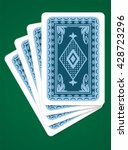 vector playing cards back sides ... | Shutterstock .eps vector #428723296