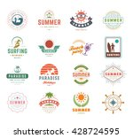 summer holidays design elements ... | Shutterstock .eps vector #428724595