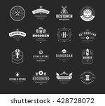 vintage logos design templates... | Shutterstock .eps vector #428728072