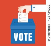 business hand vote for election ... | Shutterstock .eps vector #428734222