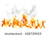 fire flames isolated on white...   Shutterstock . vector #428739025