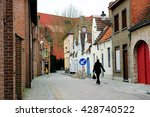 woman walking home in the... | Shutterstock . vector #428740522
