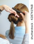 professional female hairdresser ... | Shutterstock . vector #428741968