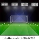 soccer goal  vector | Shutterstock .eps vector #428747998
