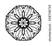 mandala. ethnic decorative... | Shutterstock .eps vector #428748745