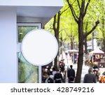 signboard shop mock up signage... | Shutterstock . vector #428749216