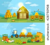 farm collection organic product ... | Shutterstock .eps vector #428750908