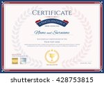 certificate of participation... | Shutterstock .eps vector #428753815