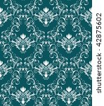 damask seamless background | Shutterstock . vector #42875602