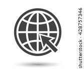 planet with arrow. planet with...   Shutterstock .eps vector #428757346