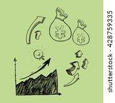 sketch icon. money concept. ... | Shutterstock .eps vector #428759335