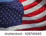 close up on american flag stars ... | Shutterstock . vector #428760682