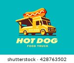 hot dog. food truck. vector... | Shutterstock .eps vector #428763502