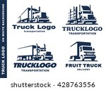 logo set with truck and trailer. | Shutterstock .eps vector #428763556