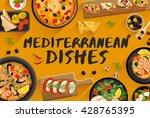 mediterranean food  food... | Shutterstock .eps vector #428765395