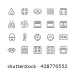 simple set of stove related... | Shutterstock .eps vector #428770552