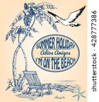 vacation announcement  summer... | Shutterstock .eps vector #428777386