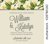 wedding invitation card with...   Shutterstock .eps vector #428780182