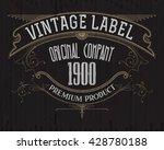 vintage typographic label... | Shutterstock .eps vector #428780188