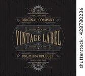 vintage typographic label... | Shutterstock .eps vector #428780236