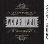 vintage typographic label... | Shutterstock .eps vector #428780572