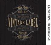 vintage typographic label... | Shutterstock .eps vector #428780755