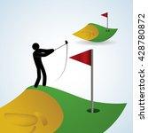 golf design. sport icon.... | Shutterstock .eps vector #428780872