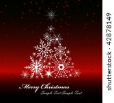 vector snowflakes tree ... | Shutterstock .eps vector #42878149