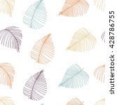 vector seamless pattern of palm ... | Shutterstock .eps vector #428786755