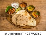 lunch of meals south india | Shutterstock . vector #428792362