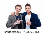 two handsome young men isolated ... | Shutterstock . vector #428793466