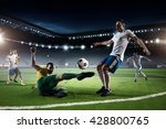 soccer game in action | Shutterstock . vector #428800765