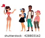 tour vacation with guide ... | Shutterstock .eps vector #428803162