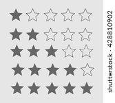 star rating. black and white... | Shutterstock .eps vector #428810902