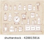 sketches of vintage drugstore... | Shutterstock .eps vector #428815816